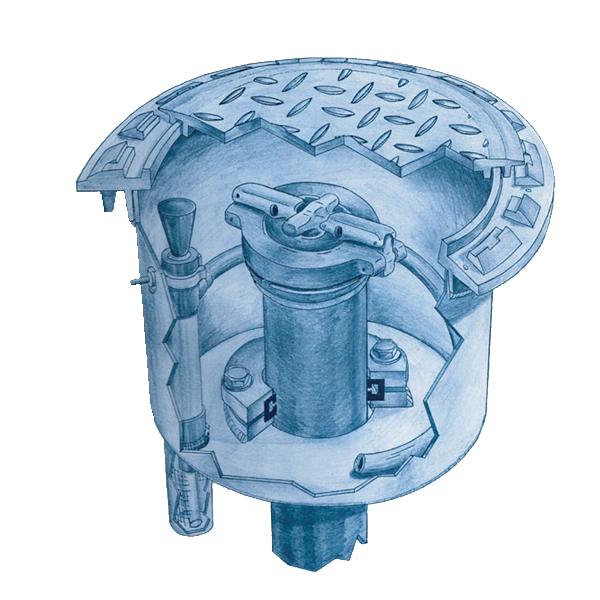 Fairfield Industries SCM-5C-WT 5 Gallon Spill Containment Manhole w/Sump & Pump