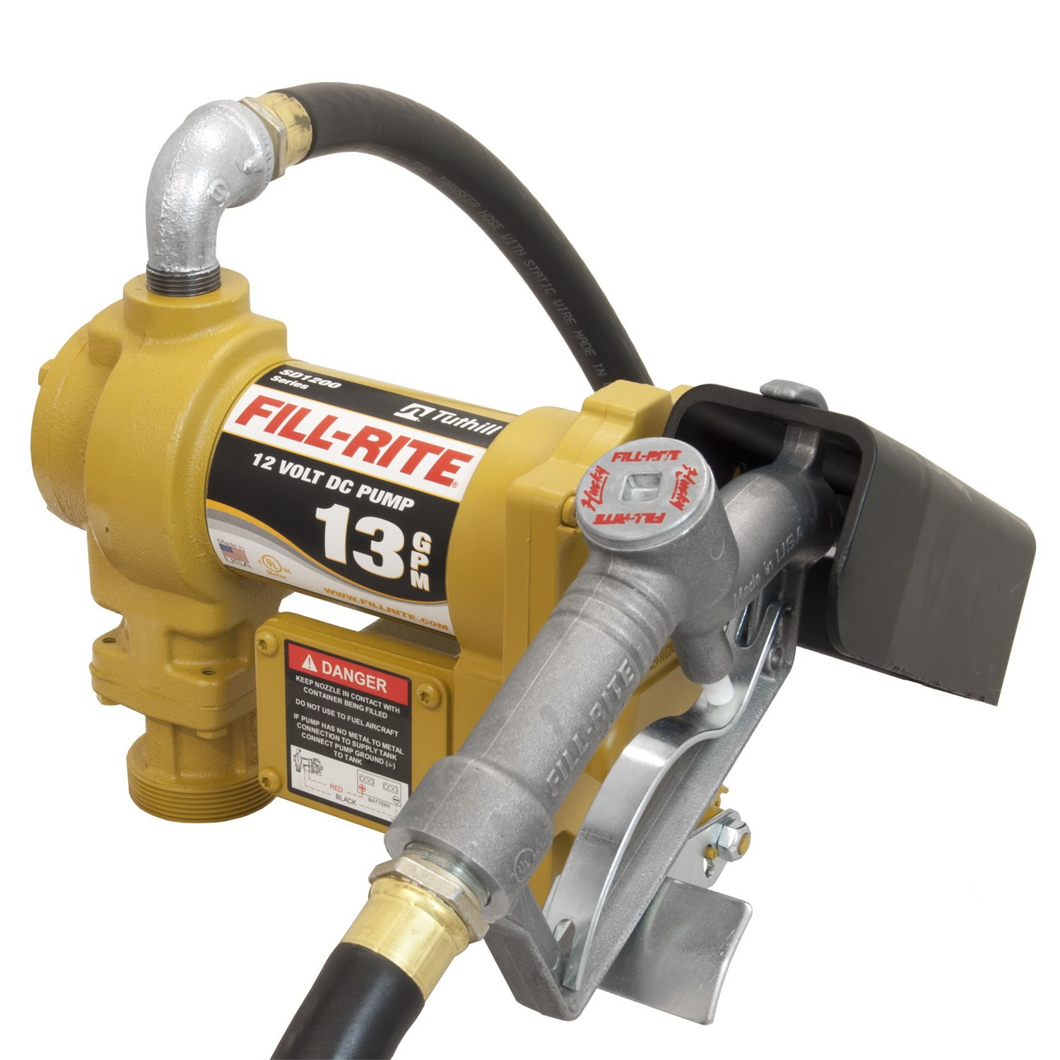 "Fill-Rite SD1202H Fuel Transfer Pump with 3/4"" Manual Nozzle (13 GPM)"