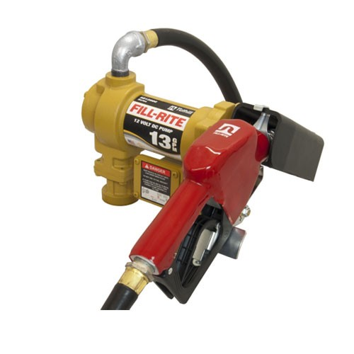 Fill-Rite SD1202GA 12 V DC Fuel Transfer Pump with Automatic Nozzle (13 GPM)