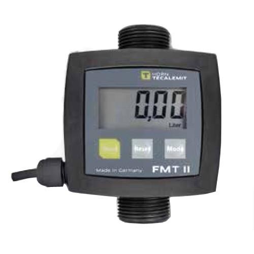 "Tecalemit US253590012 1"" Male BSP FMT II Vertical Digital Meter w/ Pulse Output (2-26 GPM)"