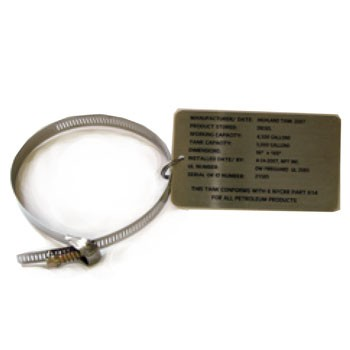 UST3-IDTAG Custom Engraved Stainless Steel UST Identification Tag