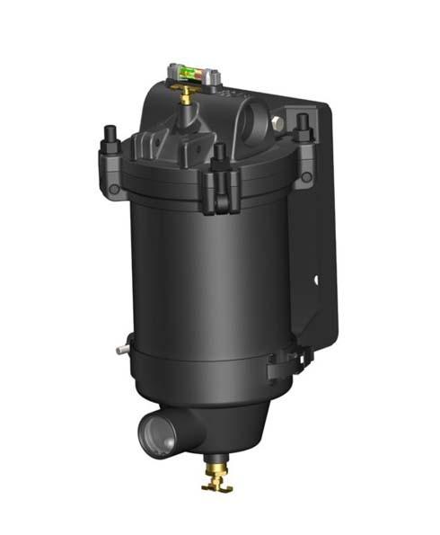 "Facet VF-22SB-PG 1½"" Fuel Filter Housing w/ Direct Reading Differential Pressure Gauge"