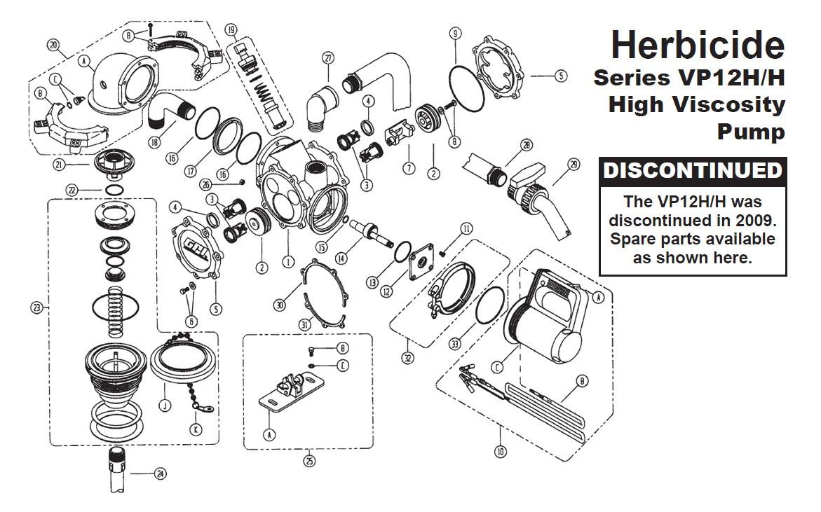 GPI 115519-1 Wet Seal Kit for VP12H/H High Viscosity Pump