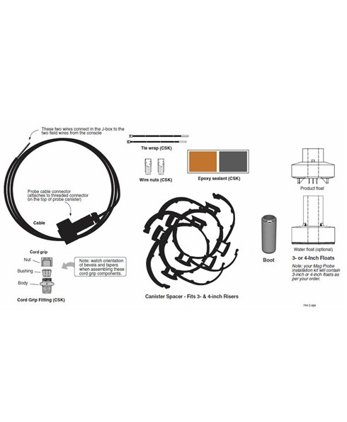 """Veeder-Root 330020-720 MAG Plus 4"""" Float Installation Kit for Gas"""